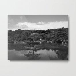 Temple Mono Metal Print