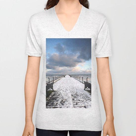 Saltburn by the Sea Unisex V-Neck