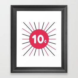 Comics 10 Cents Framed Art Print