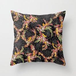 Garden Cobwebs in Autumn Throw Pillow