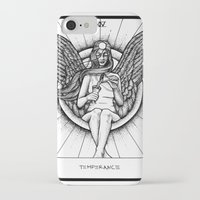 tarot iPhone & iPod Cases featuring Temperance Tarot by Corinne Elyse