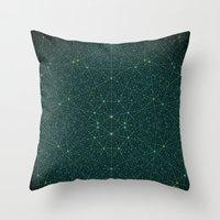 internet Throw Pillows featuring The Internet by FRAXTURED
