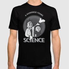 A HUNDRED YEARS SCIENCE Black MEDIUM Mens Fitted Tee