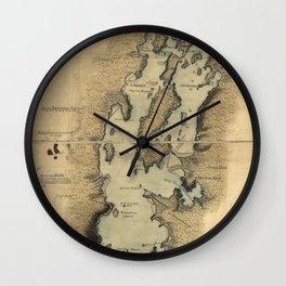 Vintage Map of Lake Champlain (1865) Wall Clock