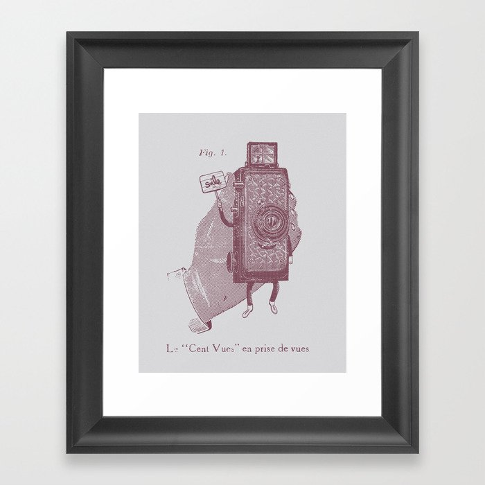Cent Vues Framed Art Print