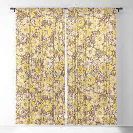 summer florals in yellows Sheer Curtain