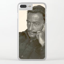 Salvador Dali old photo Clear iPhone Case