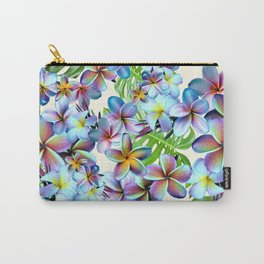 Rainbow Plumeria Pattern Carry-All Pouch