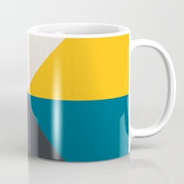 Split X Teal & Yellow Coffee Mug