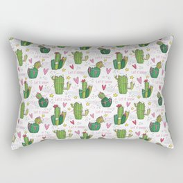 Let it Snow Cactus Rectangular Pillow
