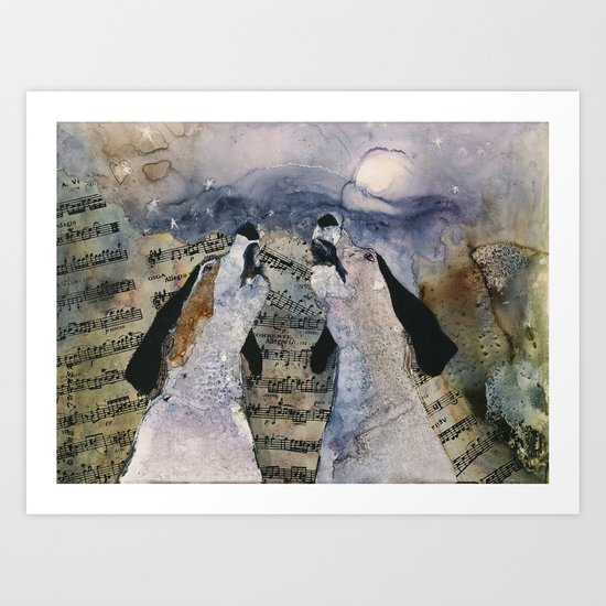 "Once in a ""Blue Tick"" Moon Art Print"
