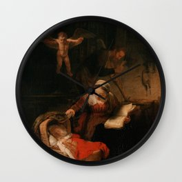 Holy Family with Angels Wall Clock