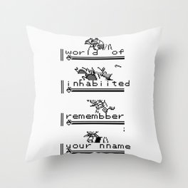 Plead [I Was Never Your Rival...] Throw Pillow