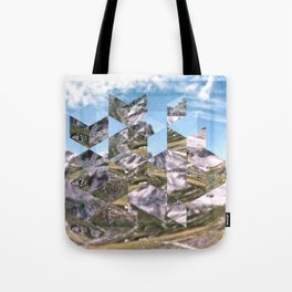 Mountain Fragments Tote Bag