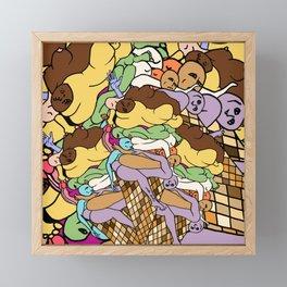 Human Ice Cream Framed Mini Art Print