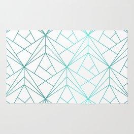 Geometric Turquoise Pattern Rug