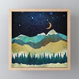 Snowy Night Framed Mini Art Print