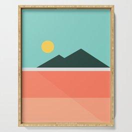 Geometric Landscape 16 Serving Tray