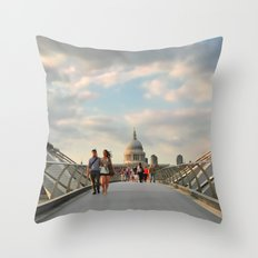 We Walk This City Throw Pillow