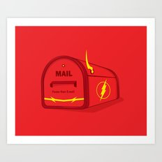 Faster than E-mail Art Print