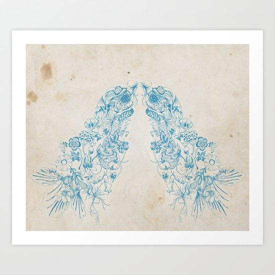 Morris homage Art Print