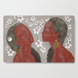 cherry blossom girls Cutting Board