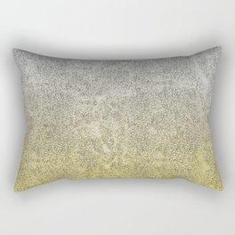 Silver and Gold Glitter Gradient Rectangular Pillow