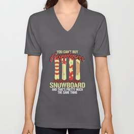 You Can't Buy Happiness But Snowboard Unisex V-Neck
