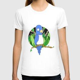 Stressed Blue Bird T-shirt