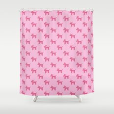 Dogs-Pink Shower Curtain