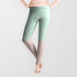 Vintage Blue, Classic Pink Leggings