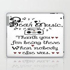 Dear music Laptop & iPad Skin