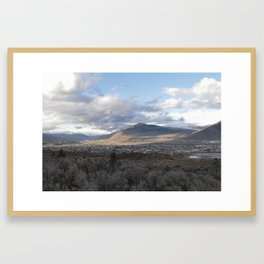 Kamloops Mountain on a Cloudy Day 3 Framed Art Print