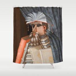 The Librarian - Giuseppe Arcimboldo Shower Curtain