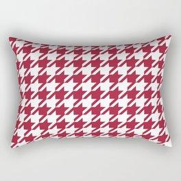 Bama crimson tide college state pattern print university of alabama varsity alumni gifts houndstooth Rectangular Pillow