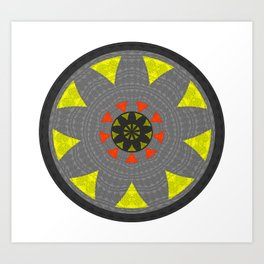 Centering the Soul Power Meditation Mandala for Focus and Vision Art Print