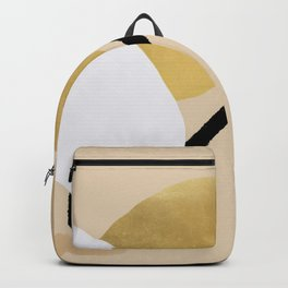 Goldy, abstraction on beige Backpack