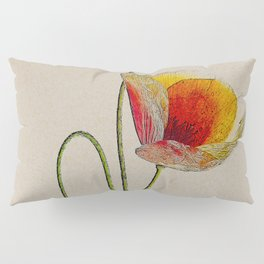 Orange Poppy Pillow Sham