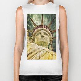Statue of Liberty USA Biker Tank