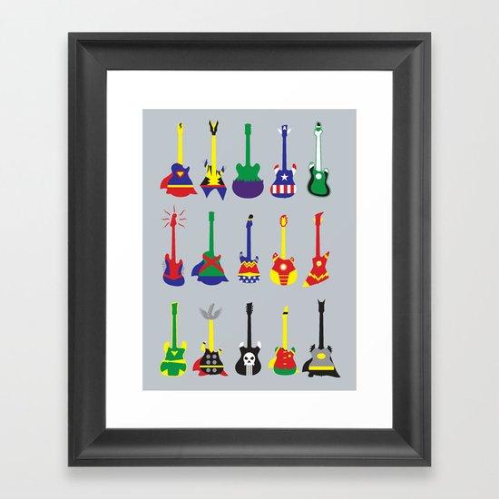 Guitar Heroes  Framed Art Print