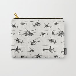 Helicopters on Linen White Carry-All Pouch