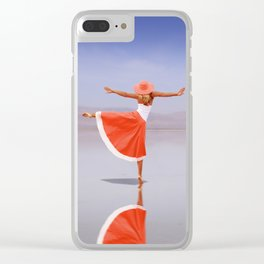 Ballerina Dancing On The Beach Clear iPhone Case