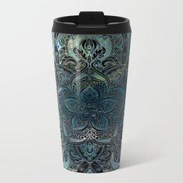 Flower mandala -night Metal Travel Mug