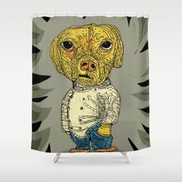The hip dog Shower Curtain