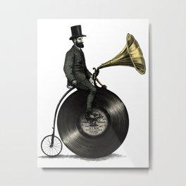 Music Man Bicycle Metal Print