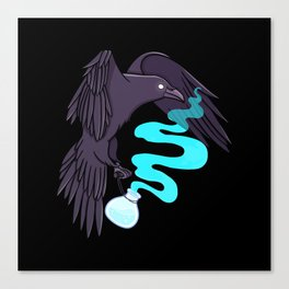 Raven Familiar // Potion Canvas Print
