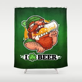 Patrick With Beer Shower Curtain