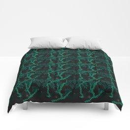 Rainforest at night Comforters