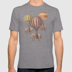 Flight of the Elephants  Tri-Grey Mens Fitted Tee LARGE