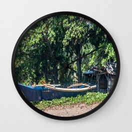 Blue Filipino Kayak Wall Clock